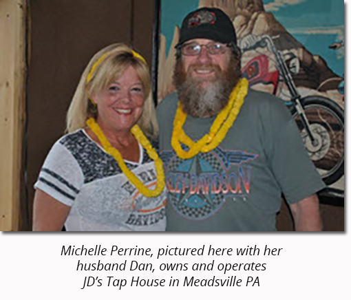 Police Threaten Bar Owner Michelle Perrine. Pictured Here with Husband Dan.