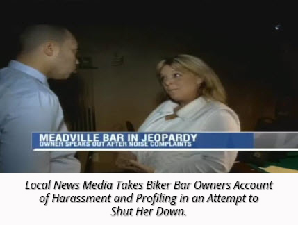 Biker Bar Targeted Owner Speaks to Local News Authorities Silent