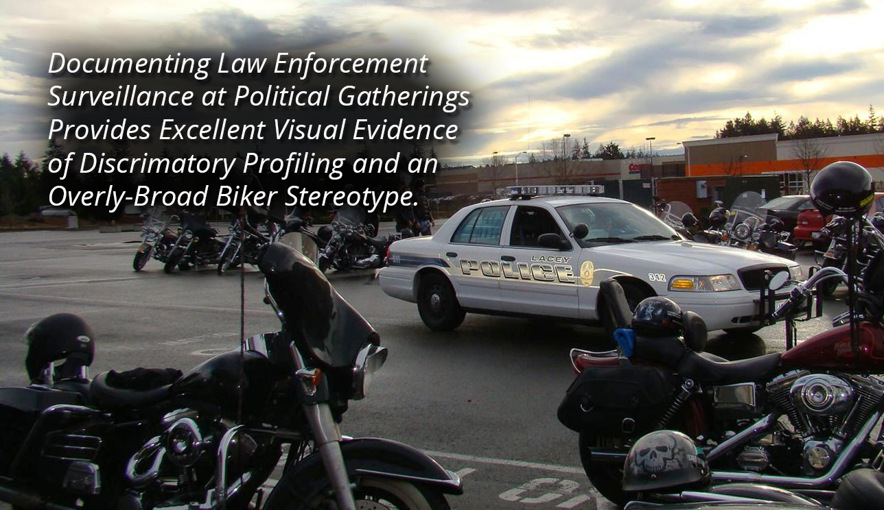 discriminatory police surveillance at a political gathering