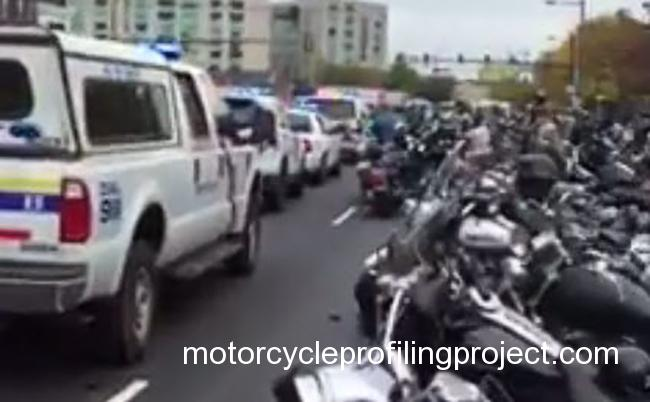 Police Blockade Motorcycle Clubs at Toy Run in Philadelphia