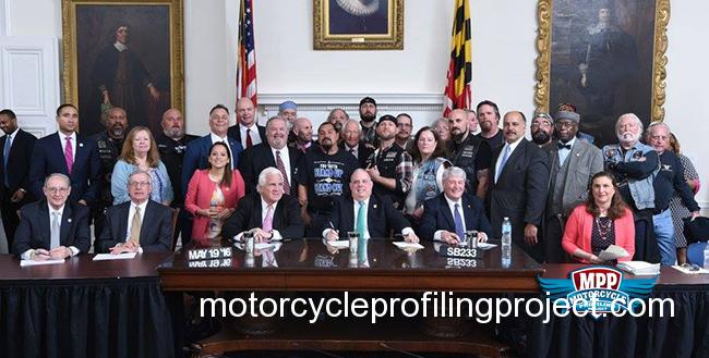 Maryland's Anti-Motorcycle Profiling Bill Signed By The Governor!