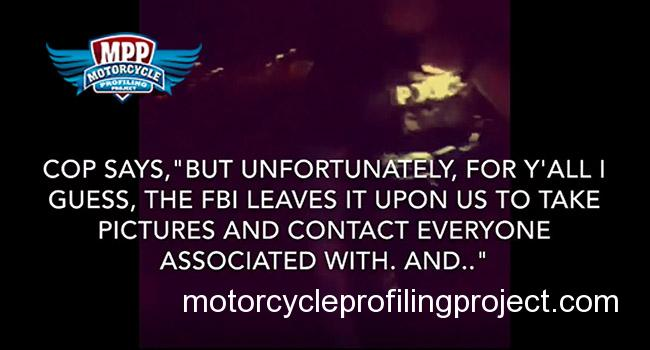 Video Proves FBI Uses Local Cops To Profile Bikers