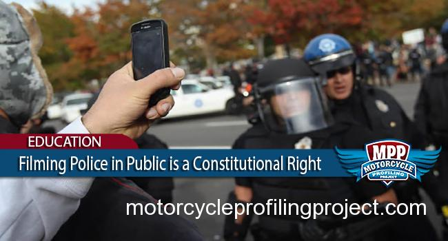 Filming Police in Public is a Constitutional Right