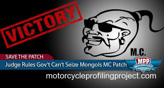 Judge Carter Says Government Can't Seize Mongols MC Patch