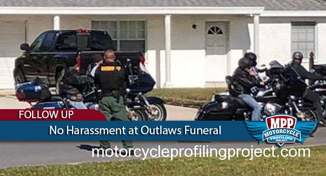 Police Respectful at Outlaws Funeral After Media Reports Public Outrage