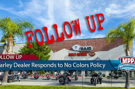 "Harley-Davidson Dealer Blames ""No Colors or Cuts"" Policy on City"
