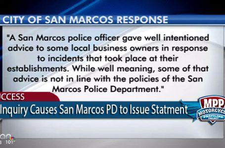 Pressure Causes San Marcos Police to Condemn Motorcycle Profiling