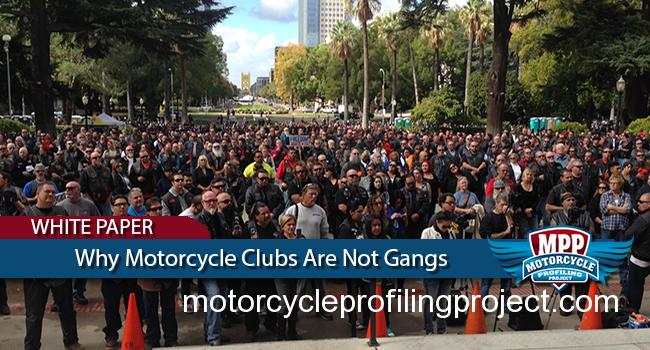 Why Motorcycle Clubs Are Not Gangs
